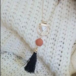 ‼️Marble & Tassel necklace